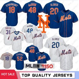 Discount mlb jerseys - 20 Pete Alonso 48 Jacob DeGrom #18 Darryl Strawberry New York 150th Baseball Jerseys Mets 16 Gooden 34 Noah 17 Hernandez