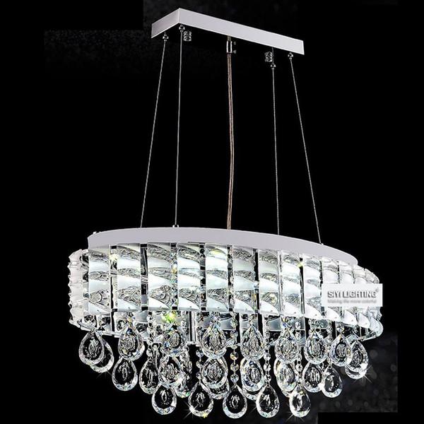Modern Ttp K9 Led Crystal Pendant Lamp Circle/ Oval Crystal Dining ...