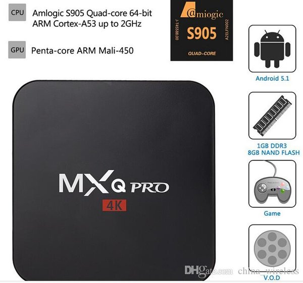 Retail And Wholesale Mx Pro Smart Android Tv Box Amlogic S905 Tv Box Quad  Core Iptv Android 4 4 Media Player Xbmc 1080p Tv Box Android Tv Box Review