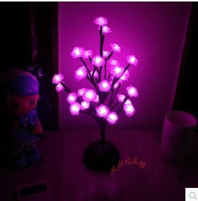 Creative Rose Flower Lamp Home Decoration Decoration Lamp 32 Led Flower Pot Lamp Holiday Gift Lanterns