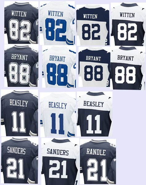 newest 25593 fa85f 2017 Men'S Elite Jerseys 11 Cole Beasley 21 Deion Sanders 21 Joseph Randle  82 Jason Witten Dez Bryant Stitching Embroidery Jersey Top Quality From ...