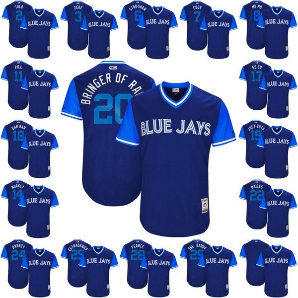 detailed look 90578 d4620 2017 20 Josh Donaldson Bringer Of Rain 2017 Little League World Series  Players Weekend Kevin Pillar Jose Bautistatoronto Blue Jays Jersey From ...