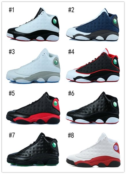 new arrival 4a847 b7b5c Cheap with Box2016 Air Retro 13 Xiii Basketball Shoes Men Bred Flints Grey  Toe He Got Game Hologram Barons Sport Sneakers Training Shoes Us 8 13 ...