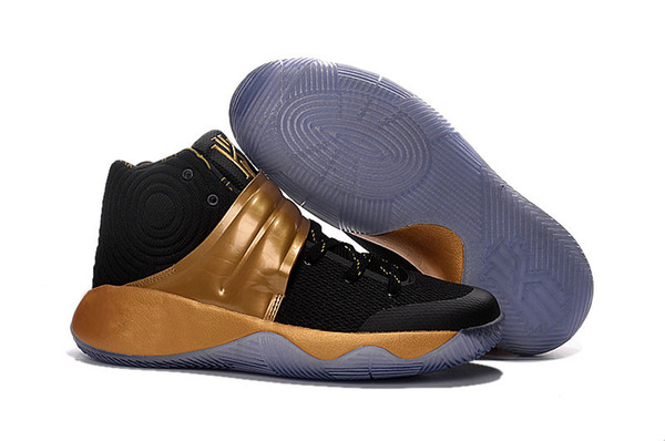 kyrie 2 black and gold