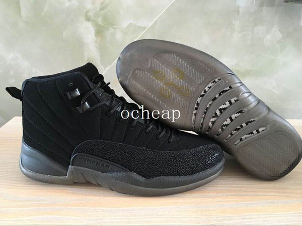 brand new 7e744 2b1b0 Cheap Air Retro 12 Ovo Black Basketball Shoes Mens Womens Air Retro 12 Ovo  White Sneakers Size Us 5 13 Shoes On Sale Cheap Sneakers From Dropshipper  ...