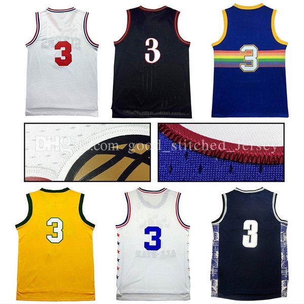 reputable site 1995b 8d839 2017 76 People #3 Allen Iverson University Edition Basketball Jersey  Throwback Jerseys Nuggets Rainbow Embroidery Logo Fast From  Good_stitched_jersey, ...