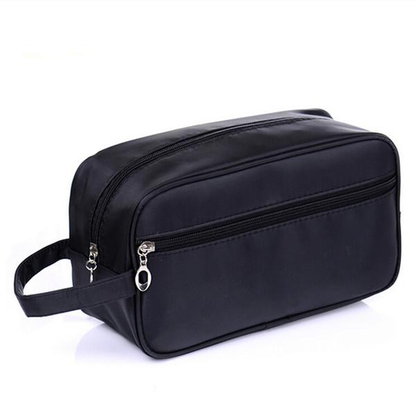 b950258e2a20 Black Cosmetic Bag Simple Waterproof Makeup Bag Toiletry Kit Men Women Wash  Bags Make Up Toilet Travel Pouch Organizer Travel In Wholesale, Fashion ...