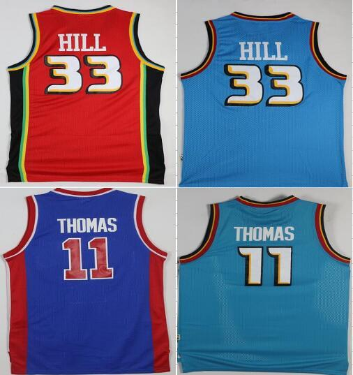 competitive price cdc7b 848d3 2017 Newest Style Basketball Jerseys #33 Grant Hill #11 Isiah Thomas Red  Green Blue Throwback Jersey Top Quality From Patriots, $17.31 | Dhgate.Com