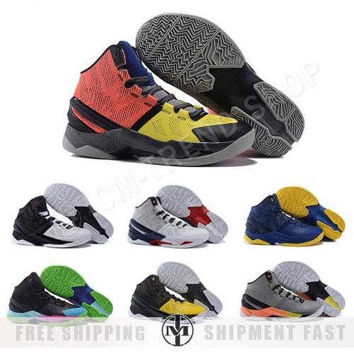 competitive price 957d1 e1bcd Cheap 2016 New Curry 2 Basketball Shoes For Men Athletic Shoes Black Men  The Playoffs Us Gold Cosmic Gray Curry 2s Sneakers Size Us 8 12 Sneakers ...