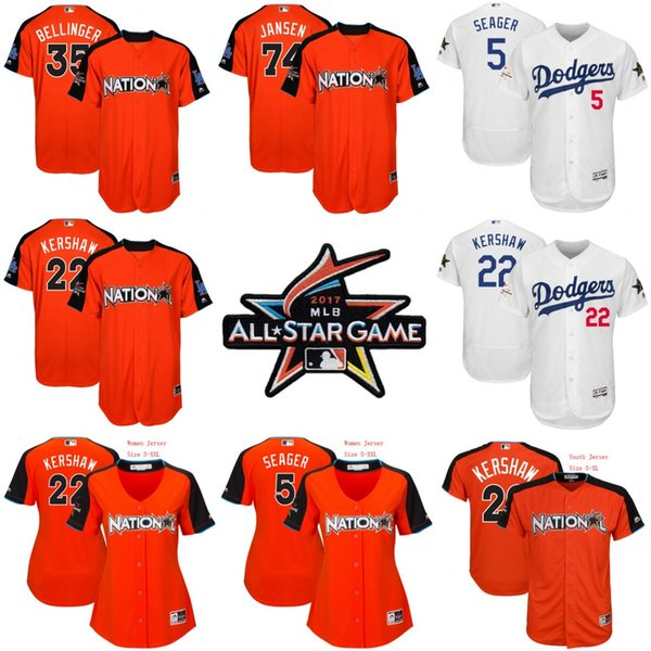 classic fit 8005f 4b65f 2017 2017 All Star Game Jersey #22 Clayton Kershaw #5 Corey Seager #35 Cody  Bellinger #74 Kenley Jansen Los Angeles Dodgers Jersey From Felixtrading,  ...