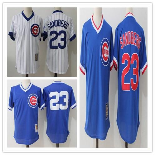 separation shoes 06eb7 c71cc 2017 Mitchell & Ness Ryne Sandberg Baseball Jerseys Chicago Cubs  Cooperstown Authentic Collection Throwback Replica Jersey Stitched Royal  Blue From ...