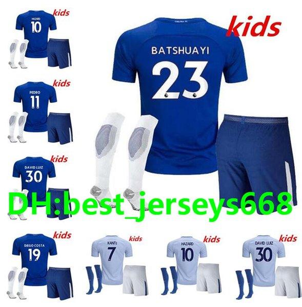 sports shoes 0a74b 74386 2017 2017 2018 Chelsea Jersey Kids + Kits + Socks 17 18 Home Away 3rd  Fabregas Oscar Hazard Miazga Willian Terry Zouma Diego Costa Jersey From ...
