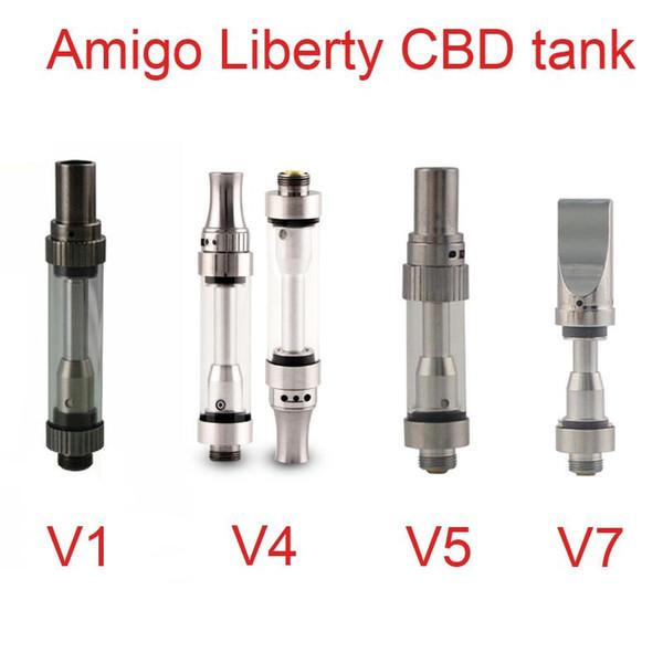 Retail And Wholesale Original Amigo Liberty V1 V4 V5 V7 Cbd Oil Cartridge  Top Filling Top Airflow Liberty Vape Cartridges Dhl Free Vaporizer E Cig