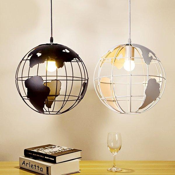 Retro Indoor Lighting Vintage Pendant Lights Globe Iron Cage Lampshade  Warehouse Style Light Fixture Scandinavian Retro