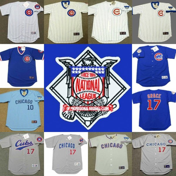 promo code 70d19 77ab4 2017 Chicago Cubs 1968 1969 1972 #10 Ron Santo 1988 1989 1990 1992 1994  1998 1999 #17 Mark Grace Throwback Baseball Jerseys From Michaelwen2008, ...